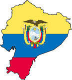Equador-Vetor do mapa Fotos de Stock Royalty Free