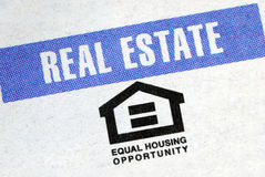 Equal housing opportunity. For the real estate industry Stock Photos