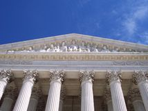 Equal Justice Under Law. The majestic entranceway to the Supreme Court Royalty Free Stock Image