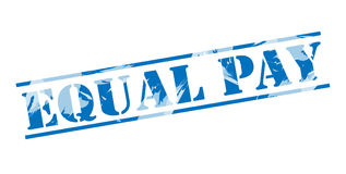 Equal pay blue stamp Royalty Free Stock Images