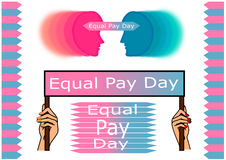 Equal pay day Royalty Free Stock Image