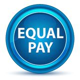 Equal Pay Eyeball Blue Round Button stock illustration