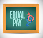 Equal pay message illustration design Royalty Free Stock Photos