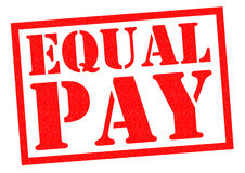 EQUAL PAY. Red Rubber Stamp over a white background Stock Photography