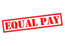 EQUAL PAY. Red Rubber Stamp over a white background Royalty Free Stock Photography