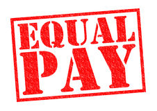 EQUAL PAY. Red Rubber Stamp over a white background Stock Images