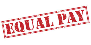Equal pay red stamp Stock Photos