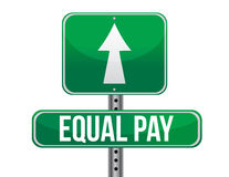 Equal pay road sign Royalty Free Stock Image