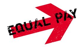 Equal Pay rubber stamp. Grunge design with dust scratches. Effects can be easily removed for a clean, crisp look. Color is easily changed Stock Photography
