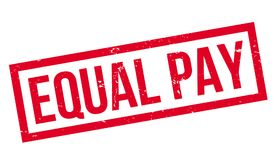 Equal Pay rubber stamp. Grunge design with dust scratches. Effects can be easily removed for a clean, crisp look. Color is easily changed Royalty Free Stock Photo