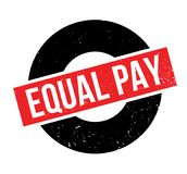 Equal Pay rubber stamp. Grunge design with dust scratches. Effects can be easily removed for a clean, crisp look. Color is easily changed Royalty Free Stock Image
