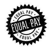 Equal Pay rubber stamp. Grunge design with dust scratches. Effects can be easily removed for a clean, crisp look. Color is easily changed Stock Photo