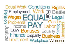 Equal Pay Word Cloud. On White Background Stock Image