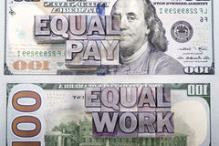 Equal pay for work Royalty Free Stock Images