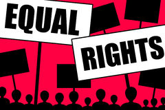 Equal rights. For all people, regardless of gender, race and age stock illustration