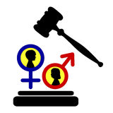 Equal rights for girls and boys Stock Images