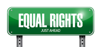 Equal rights sign illustration design. Over a white background Stock Photography