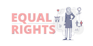 Equal rights web banner Stock Image