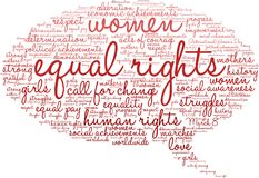 Equal Rights Word Cloud Royalty Free Stock Image
