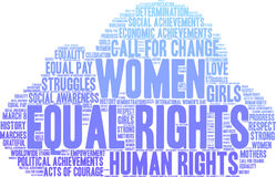 Equal Rights Word Cloud Royalty Free Stock Photos