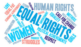 Equal Rights Word Cloud Royalty Free Stock Photography