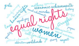 Equal Rights Word Cloud Stock Photos