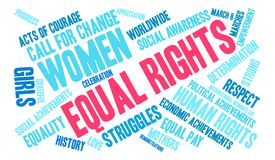 Equal Rights Word Cloud Royalty Free Stock Photo