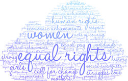 Equal Rights Word Cloud Stock Image