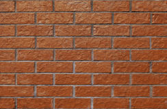 Equal and simple wall with new, nice bricks Royalty Free Stock Photography