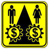 Equal Work Equal Payment. Concept sign for equal pay for equal work especially for women Royalty Free Stock Images