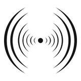 Equaliser abstract pictogram, eenvoudige zwarte stijl Stock Afbeelding