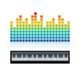 Equaliser en pianotoetsenbord, illustratie Royalty-vrije Stock Fotografie