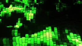 Equaliser van de Vj de groene gloed stock illustratie