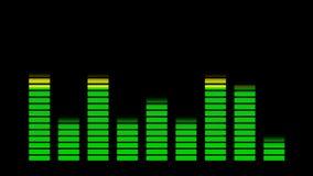 Equaliser voor muziekachtergrond stock videobeelden