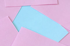 Equality. Pink and blue post it Stock Images