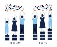 Free Equality And Equity Concept Illustration. Human Rights, Equal Opportunities And Respective Needs. Modern Design Vector Stock Photography - 192548502