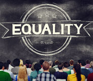 Equality Balance Discrimination Equal Moral Concept Royalty Free Stock Images