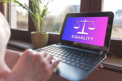 Equality concept on a laptop screen Royalty Free Stock Photo