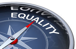 Equality. 3D rendering of compass with a equality icon Stock Photography