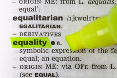 Equality dictionary Stock Photography