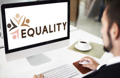 Equality Fairness Fundamental Rights Racist Discrimination Conce. Business Equality Fairness Fundamental Concept Royalty Free Stock Image