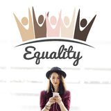 Equality Fairness Fundamental Rights Racist Discrimination Conce. Pt Royalty Free Stock Photography
