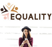 Equality Fairness Fundamental Rights Racist Discrimination Conce. People Choosing Equality Fairness Fundamental Rights Stock Images