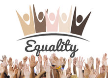 Equality Fairness Fundamental Rights Racist Discrimination Conce. People Hands Equality Fairness Fundamental Rights Racist Discrimination Stock Photos
