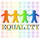 Equality. Illustration of man holding hand standing for equality Stock Image