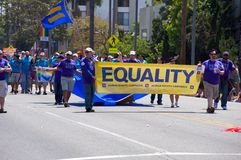 Equality at Long Beach Lesbian and Gay Pride Royalty Free Stock Image