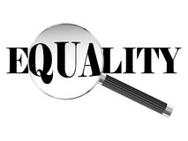 Equality Magnifying Glass Royalty Free Stock Image