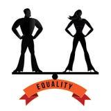 Equality man and woman balance EPS 10 vector. Royalty free stock illustration Royalty Free Stock Image