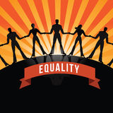 Equality among people burst EPS 10 vector Stock Photos