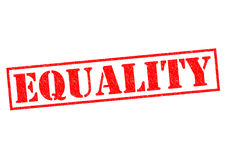 EQUALITY. Red Rubber Stamp over a white background Stock Image